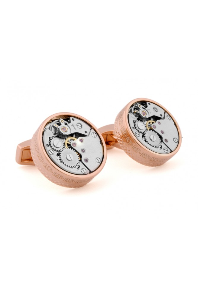Rose Gold Colour PlatedSkeleton Movement