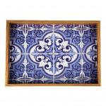 Tava decorativa Blue Mozaic