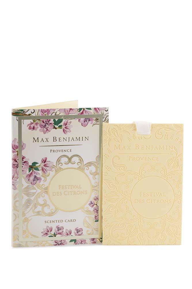 Card parfumat Max Benjamin Provence Festival Des Citrons